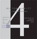Milton Babbitt - A Composers' Memorial cd 4