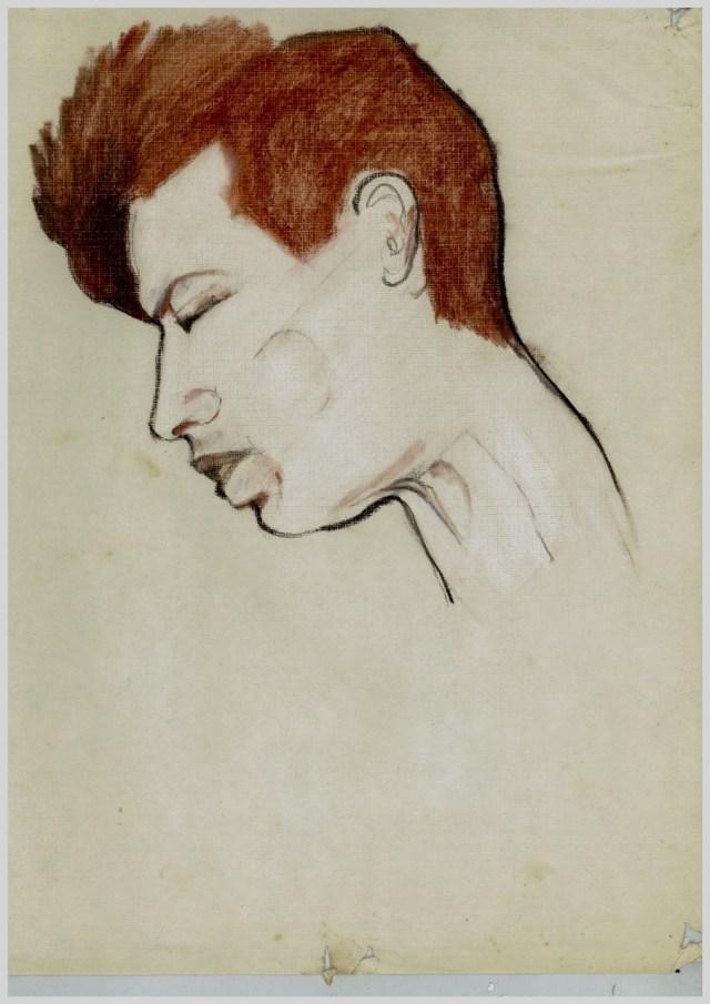 A Drawing of Chris Mann by Katy Munson, St. Kilda, ca. 1996