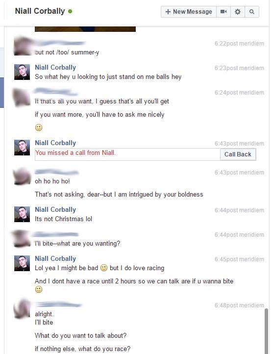 Screenshot of conversation between my associate and Niall Corbally, part 7 of 12