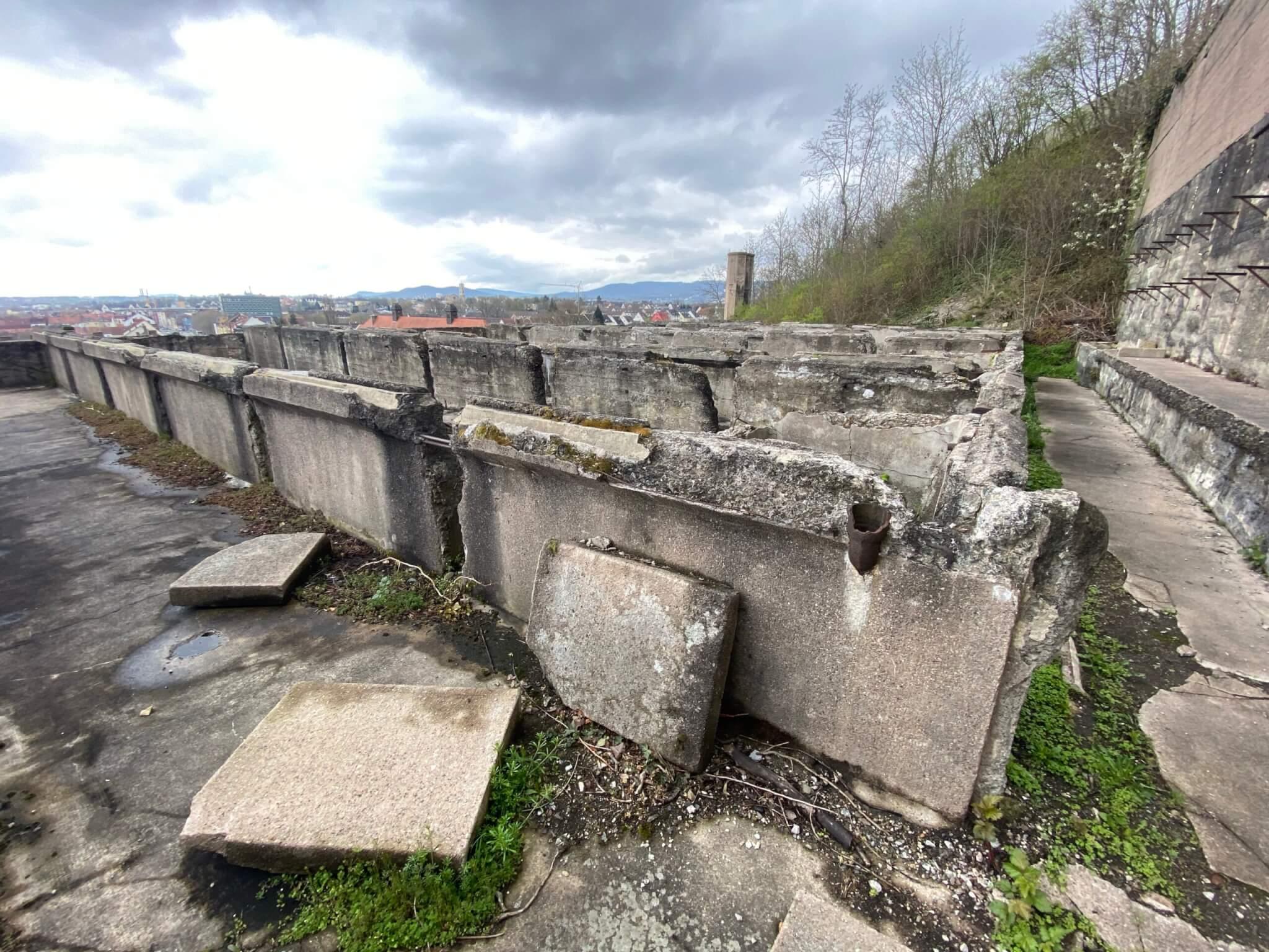 Greenhouse ruins, Weinbergterrassen, Kassel
