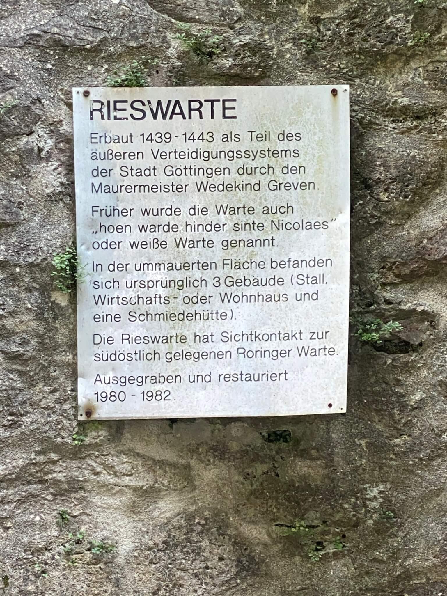Rieswarte, Göttingen