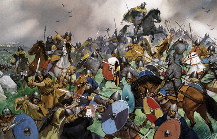 The Battle of Clontarf, 23 April 1014. One of Irish history's decisive battles, Clontarf ended the possibility of Viking domination.