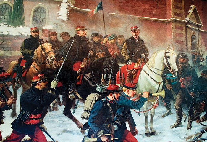 General Faidherbe at the Battle of Bapaume, 3 January 1871 – a rare French tactical victory late in the war, but without strategic consequence. The rapid military collapse of the Second Empire reflected the rottenness of Napoleon III's regime – and the vigour of the new Germany led by Bismarck and Moltke.