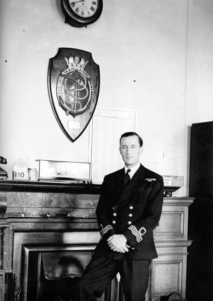 Fleming in his wartime office, Room 39 of the Admiralty, Whitehall. His role was that of a diplomat and civil servant, but he was also an ideas man.