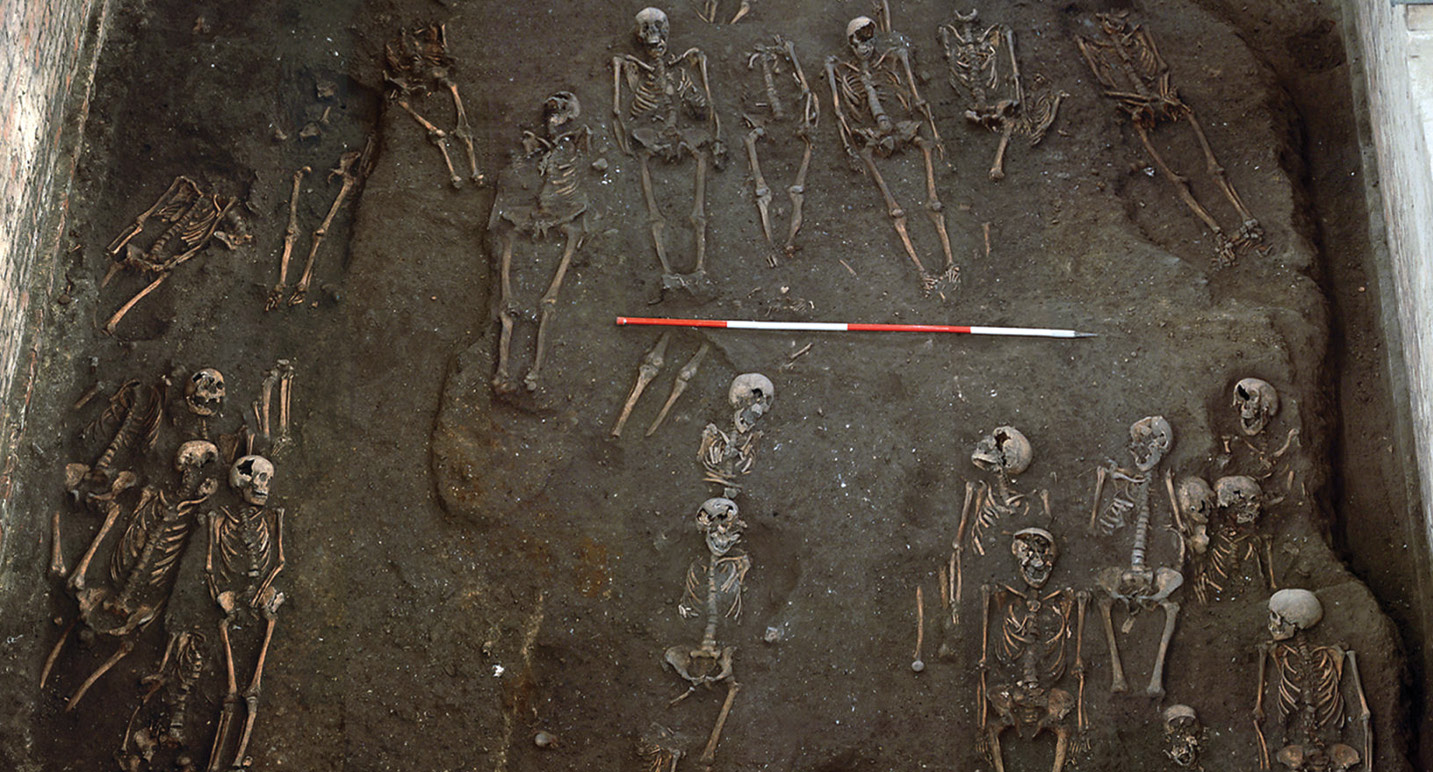 below Individuals buried at the Hospital of St John the Evangelist had the lowest incidence of fractures, possibly because the inmates of the hospital were too ill to participate in risky activities.