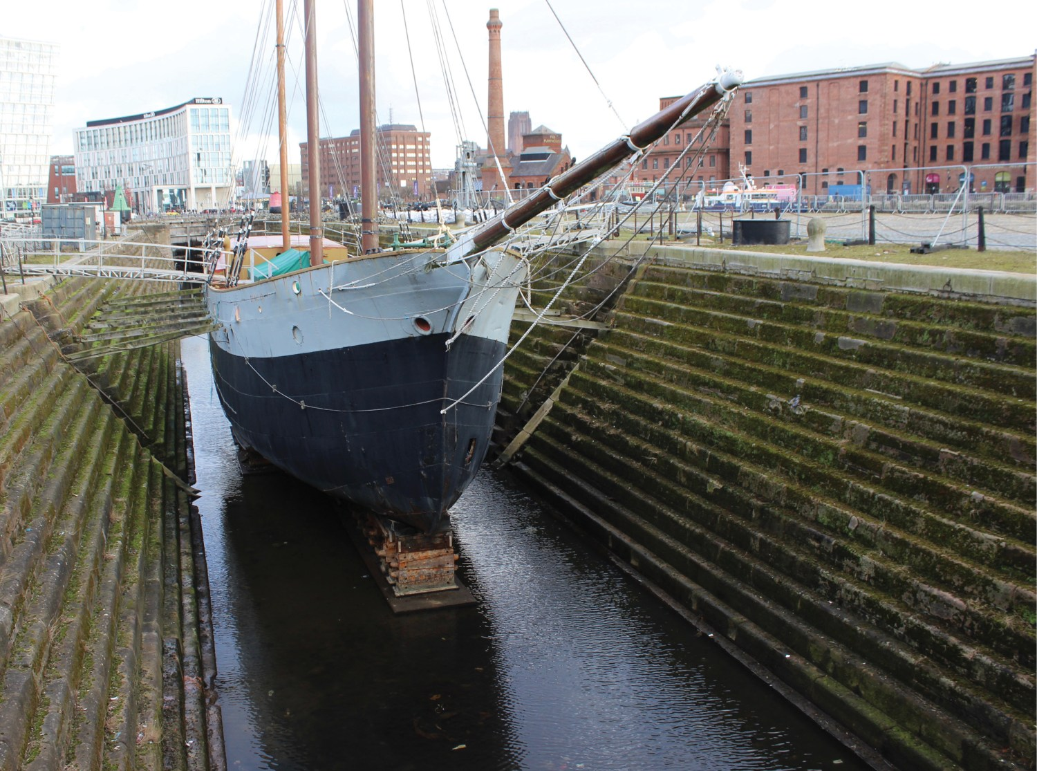 Above One of the two dry graving docks that are part of the Canning Docks in Liverpool. They were built by Henry Berry between 1765 and 1768 and served many ships involved in the Transatlantic slave trade.