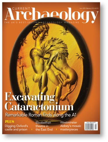 right The cover story of CA 359 featured the excavations along the A1 in North Yorkshire, which revealed an astonishing wealth of Roman sites.