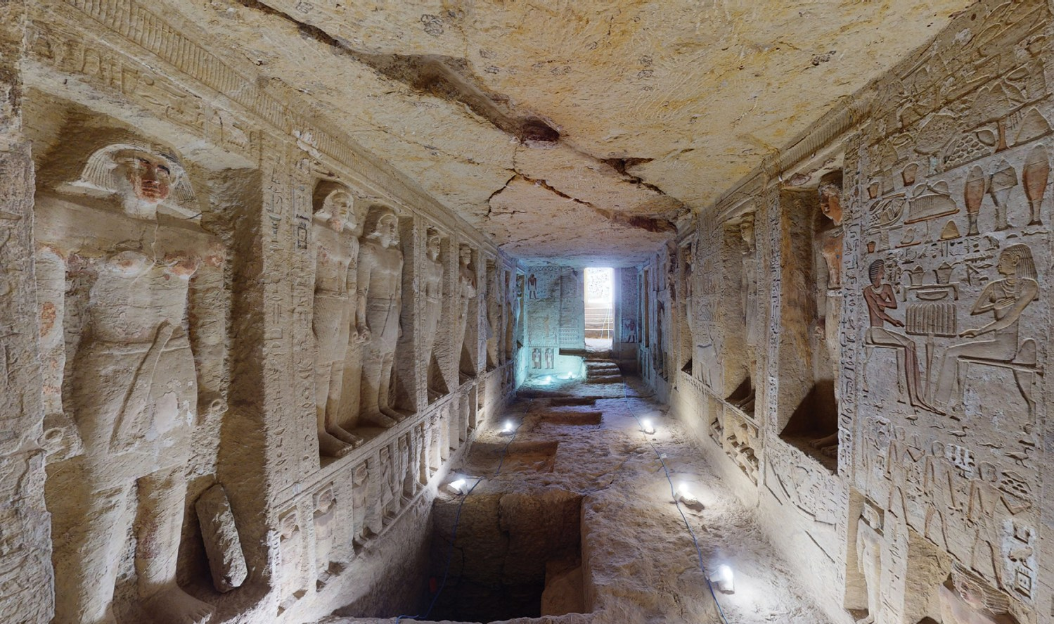 The lavishly decorated tomb of Wahtye, a high-ranking official in the 5th dynasty, is one of the Egyptian heritage sites for which 3D models have been created to allow 'visits' during the COVID-19 pandemic.