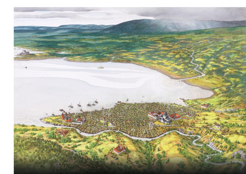 Medieval Oslo. Illustration: Karl-Fredrik Keller