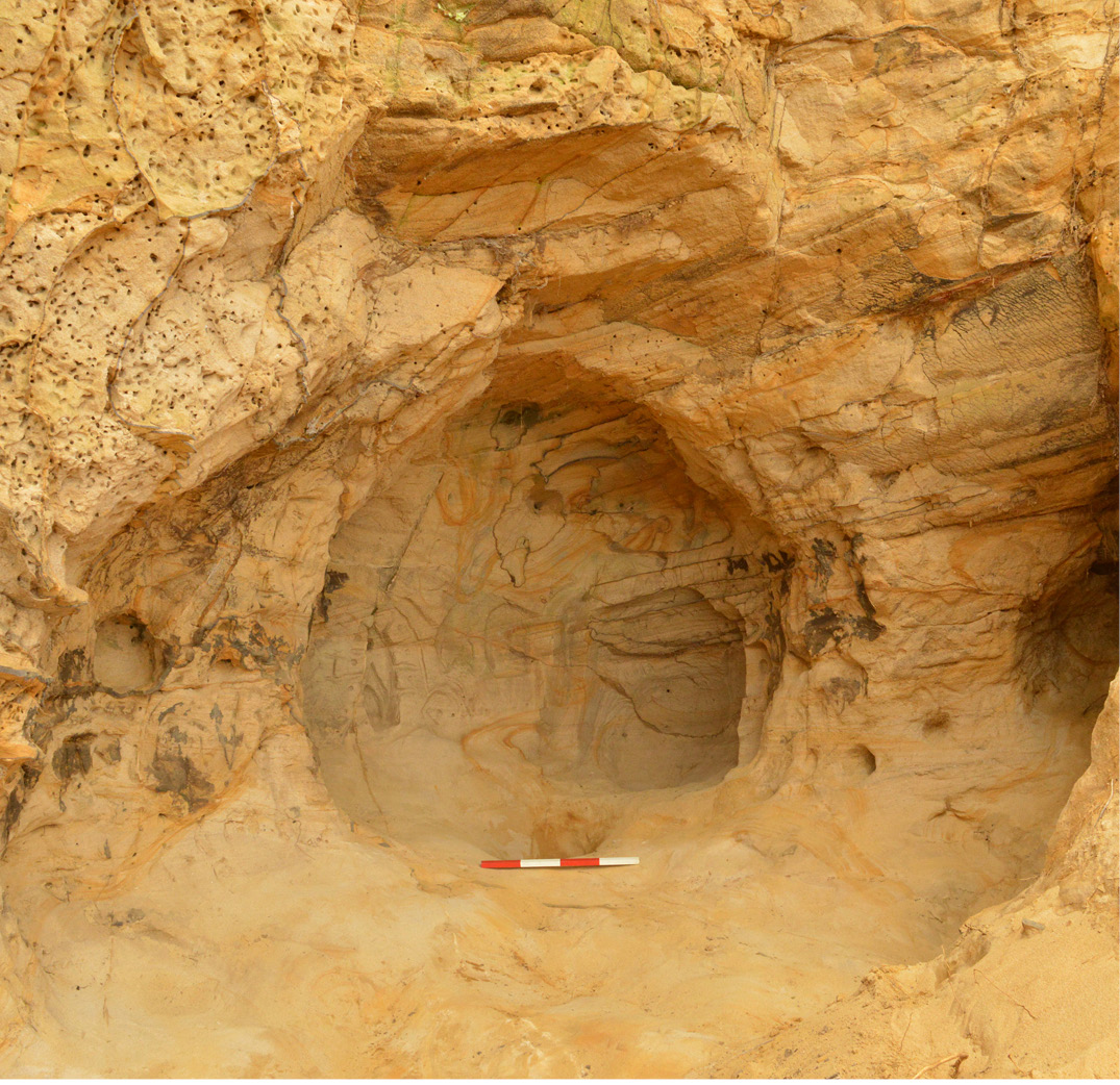 Medieval carvings found in cave near Guildford