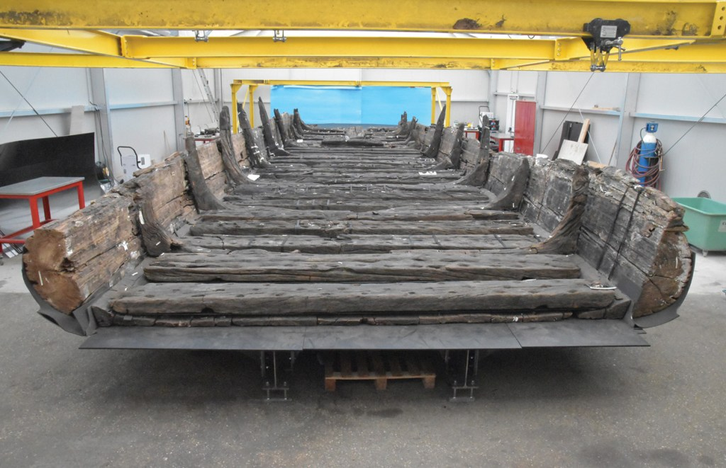 Wood samples were taken from this 2nd century BC Gallo-Roman ship discovered in Lyon, France, near the River Saône.