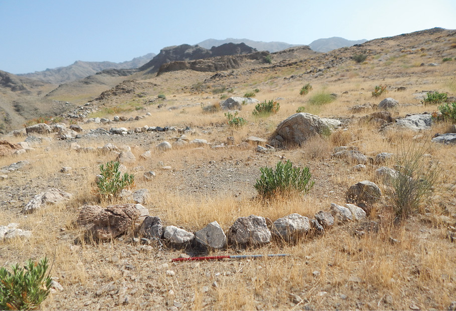 The remains of circular structures resembling those still found in the region today (ABOVE) have been found at all of the archaeological