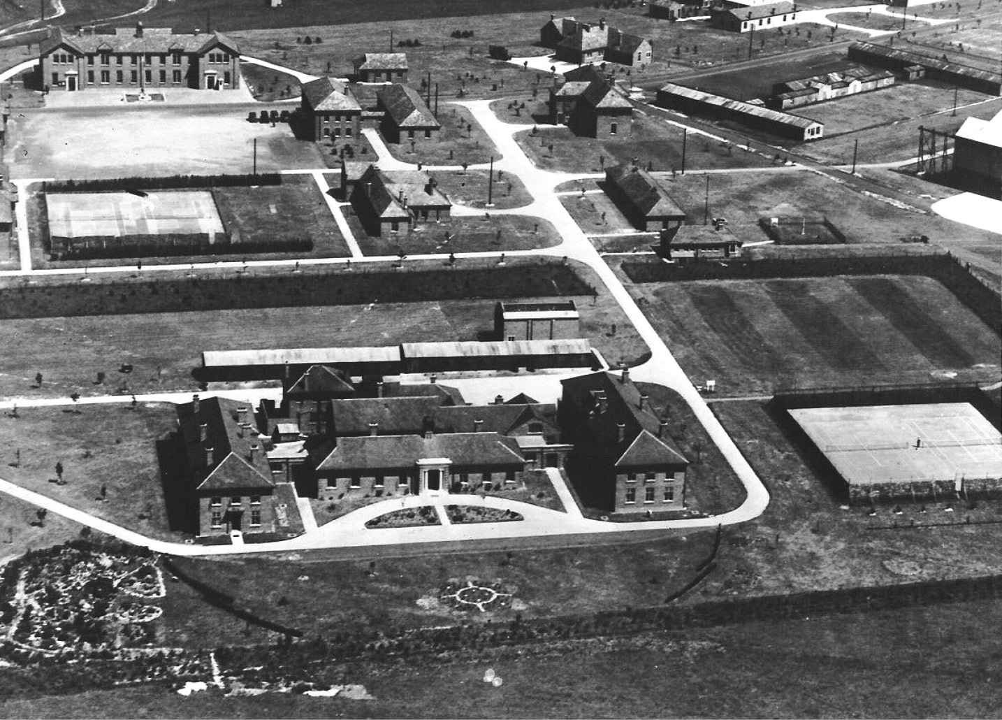 ABOVE Striking new 'permanent' architecture specifically designed for the RAF flourised in the late 1920s as part of the Air Defence of Great Britain scheme as seen with this example from Boscombe Down, pictured in 1933.