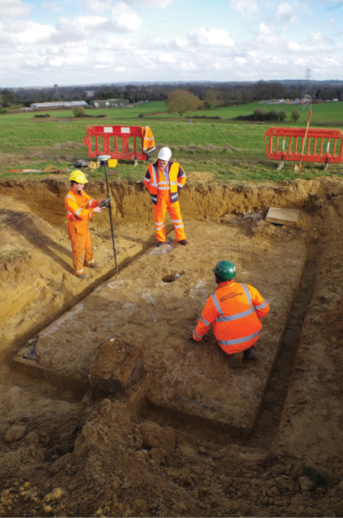 photoS: Wessex Archaeology (right)/courtesy of Malcolm Holland (far right)