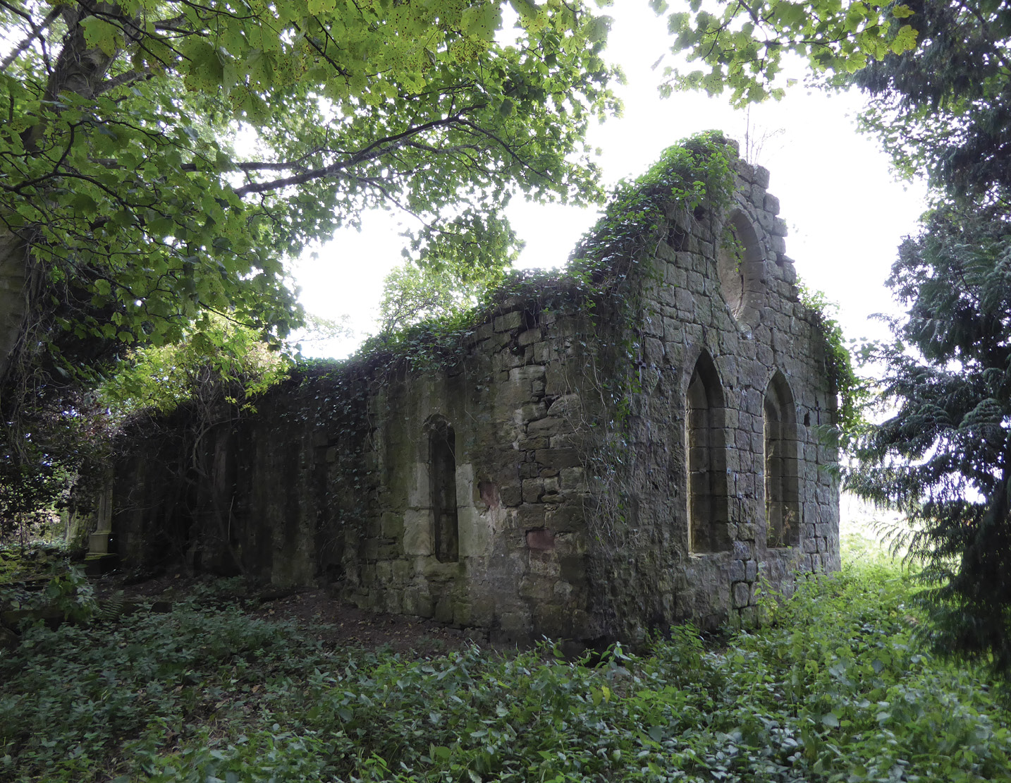 LEFT Hervie de Keith, who acquired his estate by 1159, built a chapel whose ruins still stand across a small burn from Keith Marischal House.