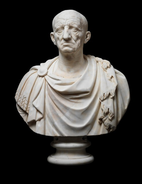 ABOVE An ancient head, on a modern bust. The individual is now known as the 'Old Man of Otricoli', after the sculpture's supposed origin. It dates to roughly 50 BC, with the sculptor paying what the exhibition catalogue (see 'Further information') describes as 'ruthless attention to the signs of age'.