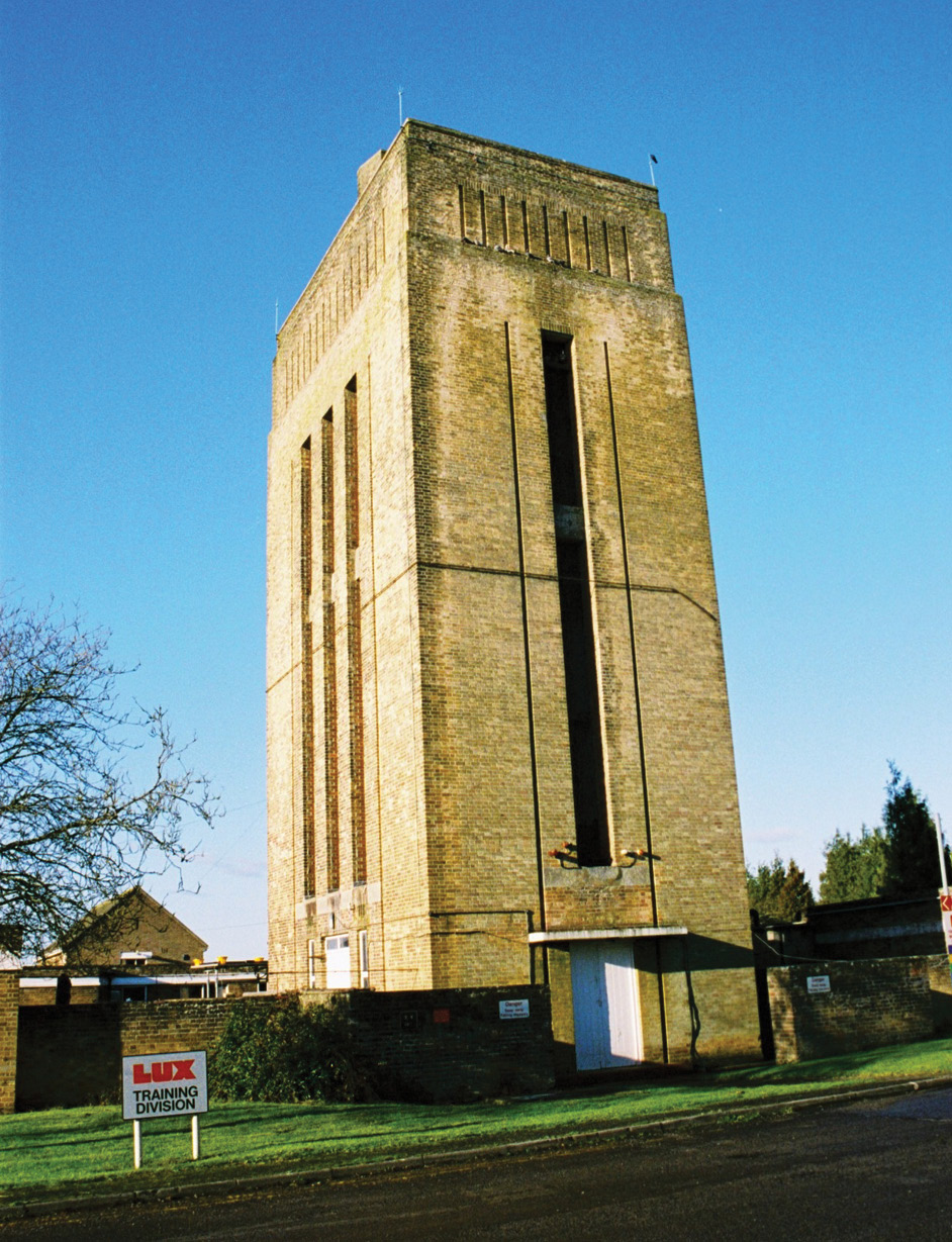 RIGHT This water tower at Kemble, Gloucestershire, was built in 1938 using pale brick to blend in with its Cotswolds landscape.