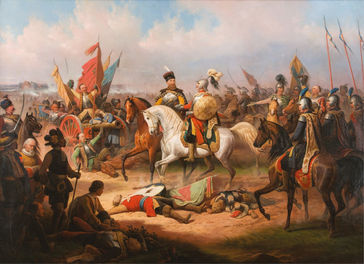 ABOVE The victorious Chodkiewicz [CENTRE Left] following the Battle of Kircholm. His cunning leadership had allowed him to defeat a numerically more-impressive opponent.