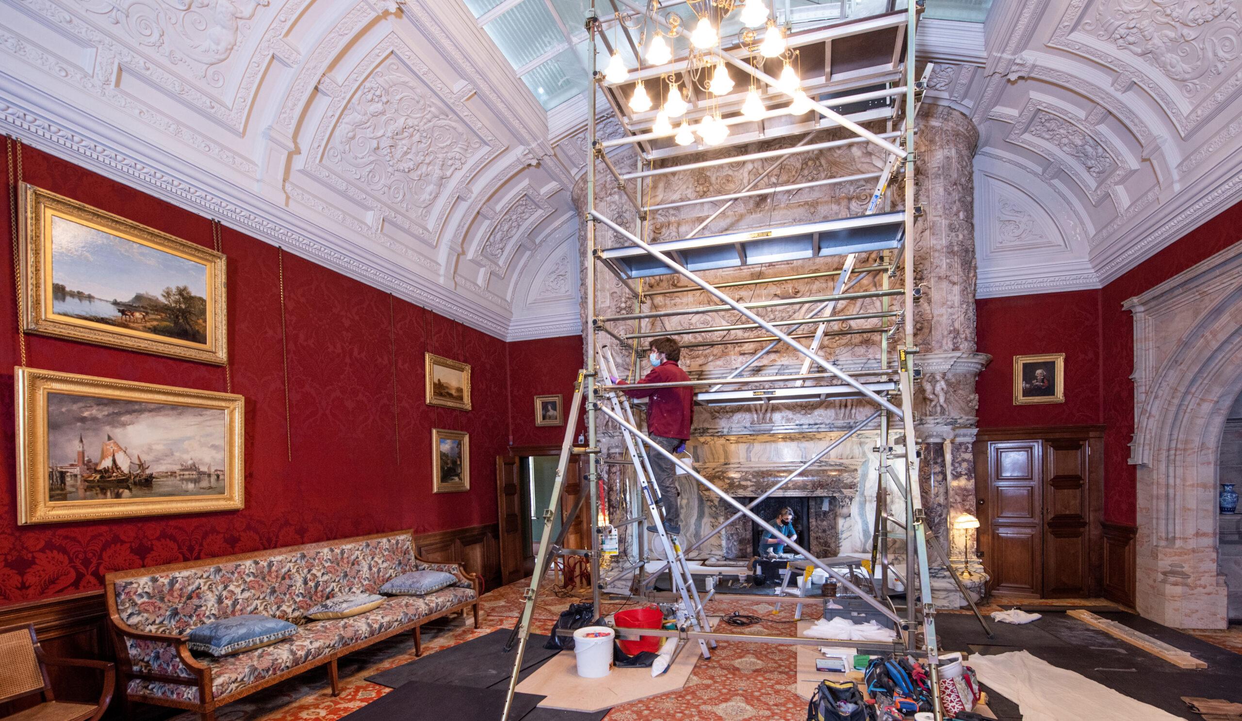 Saving Cragside's Victorian fireplace