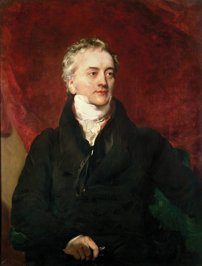 left Portrait of the physician and natural philosopher Thomas Young by Henry Briggs, c.1822.