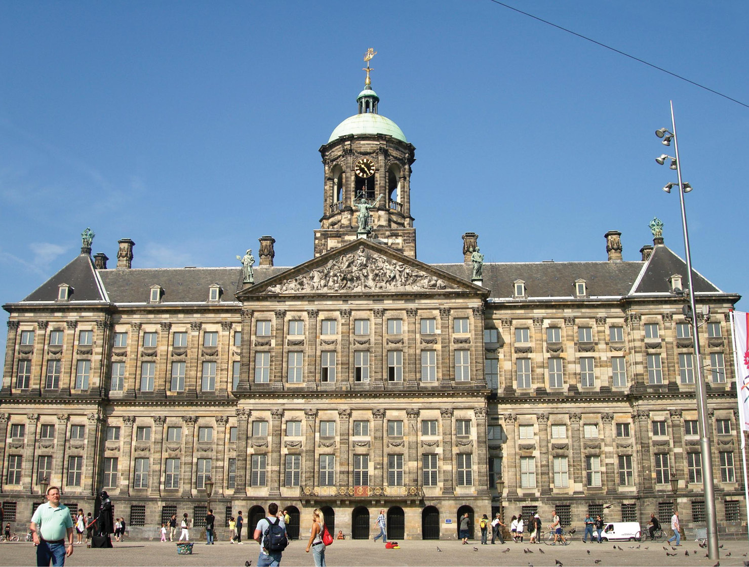 above The Royal Palace in Amsterdam was built in the 17th century and is decorated with carvings that exemplify the colonialism that was central to the power of the Dutch Republic at the time.