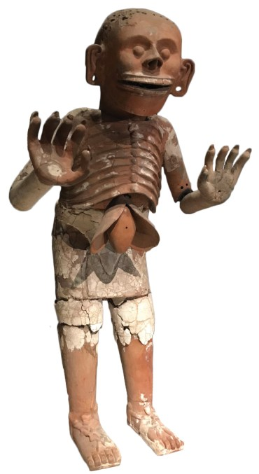 LEFT This clay sculpture of the Aztec god of the underworld, Mictlantecuhtli, was one of a pair. They marked the entrance to the House of the Eagles, a building in the complex of Templo Mayor, the main temple of the Aztec capital Tenochtitlan (now in the heart of Mexico City). It is now displayed in the museum associated with the