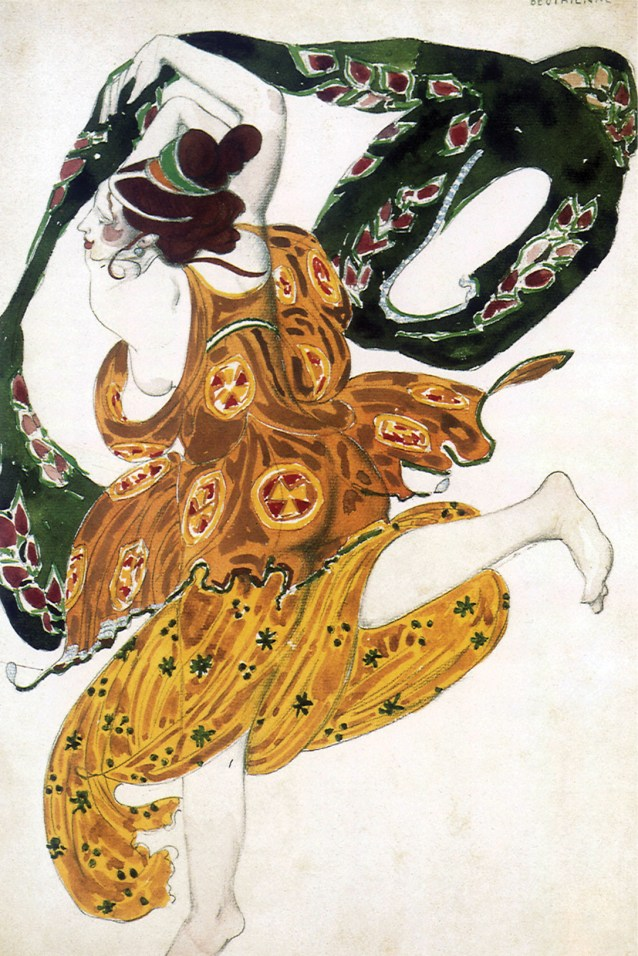left Leon Bakst, costume design for a Boeotian in Narcisse, 1911. below Domenichino, Timoclea before Alexander the Great, c.1615. Oil on canvas.