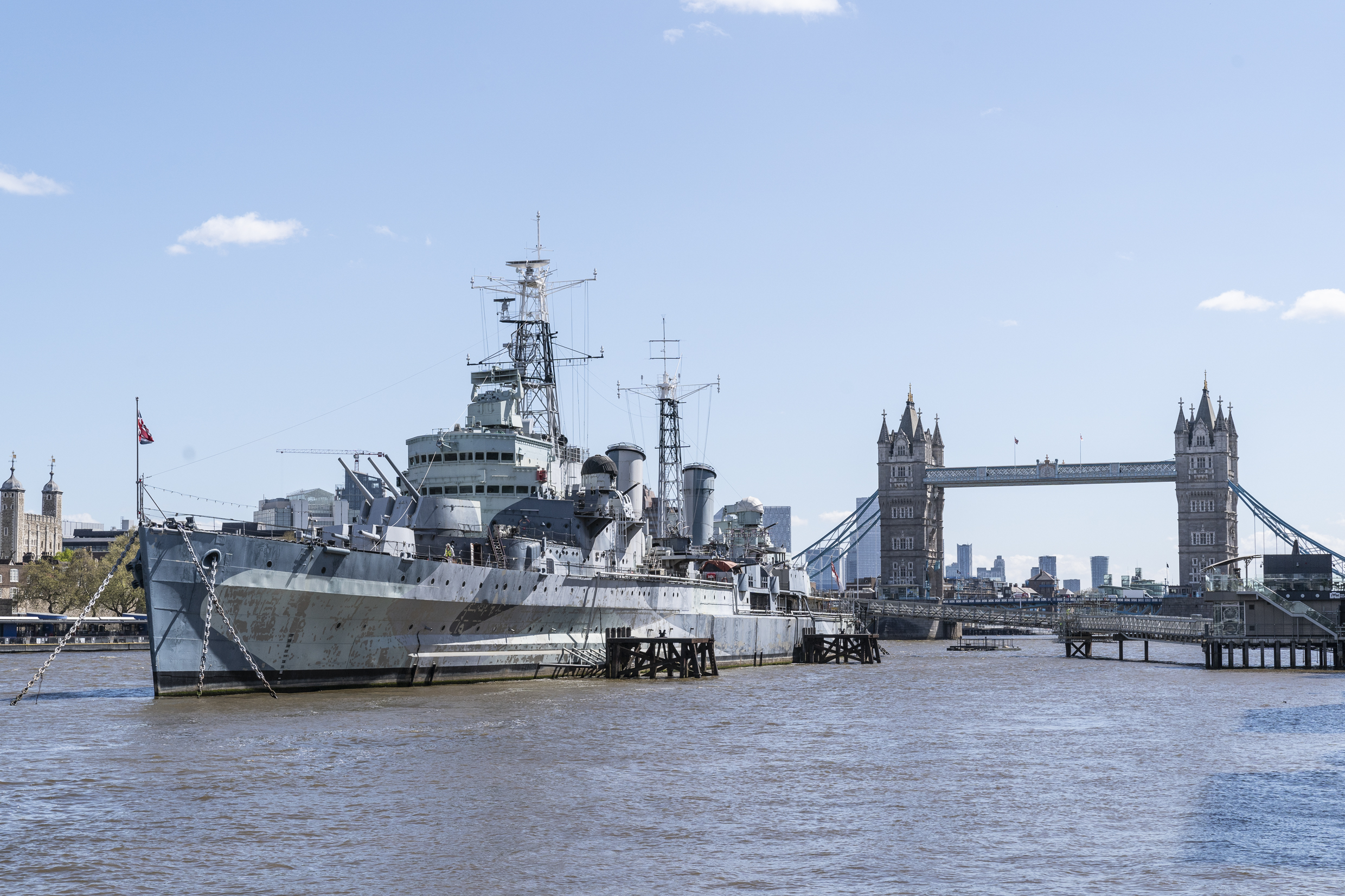 Date announced for HMS Belfast's reopening