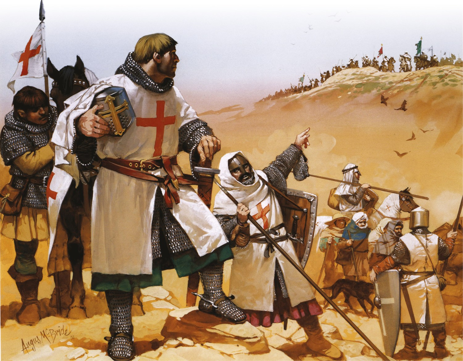 OPPOSITE Knights Templar in the Holy Land. Feudal blunderers or calculating strategists?