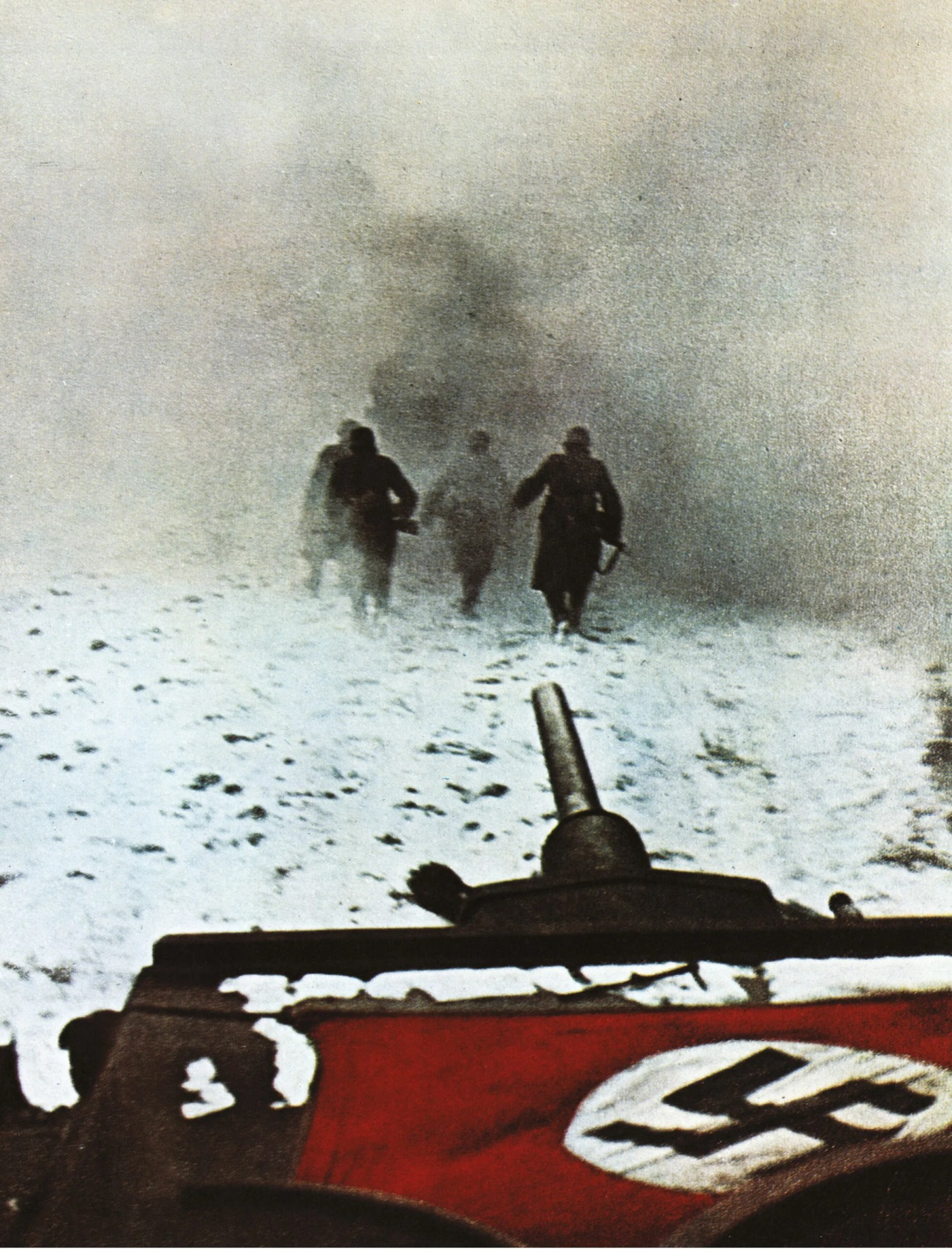 opposite Heading towards disaster: German troops advance through the Russian winter.
