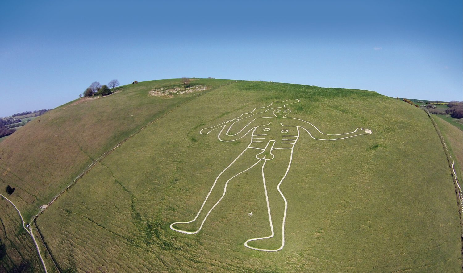 BELOW Overlooking the Dorset landscape, the Cerne Abbas Giant has long been one of the county's most-distinctive landmarks but precisely how old is the famous hill figure?