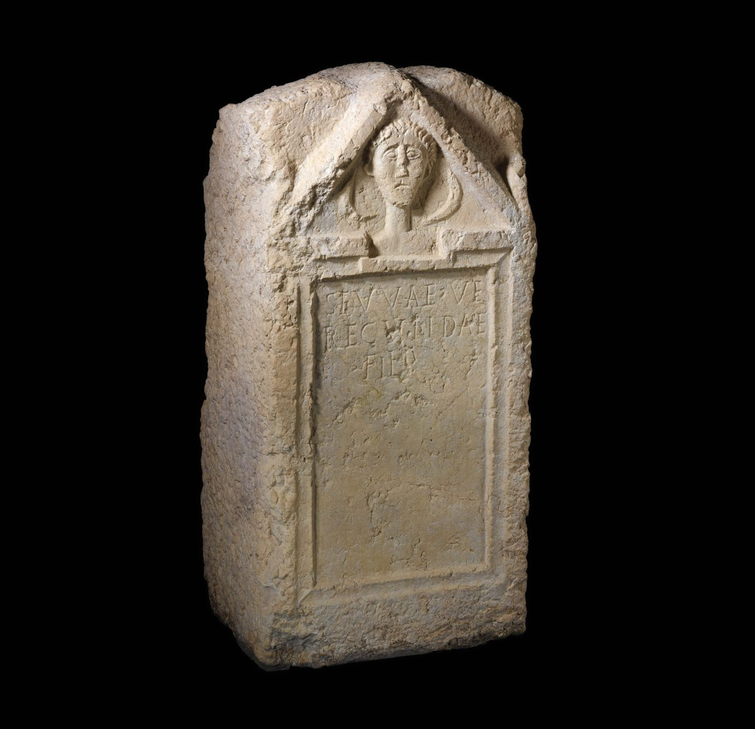 OPPOSITE Roman inscriptions found in Geneva reveal much about the lives of some of the women who lived there. This example, a tombstone for Sevva, daughter of Verecunda, is also notable for featuring the earliest surviving image of a Genevan woman. It probably dates to the 1st century AD, although a 3rd-century AD origin has also been proposed. The curving shapes beside Sevva's face are generally seen as crescent moons a common Gallo-Roman
