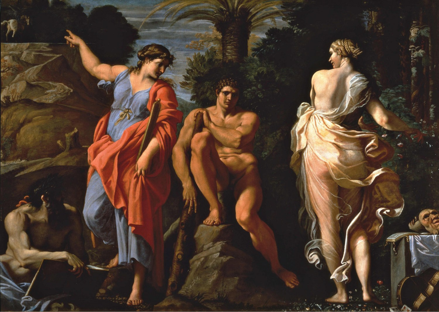 LEFT Annibale Carracci's famous 1596 painting of 'The Choice of Hercules'. This image proved hugely influential to later artists, and inspired the Earl of Shaftesbury to write a treatise discussing his ideal interpretation of the theme.