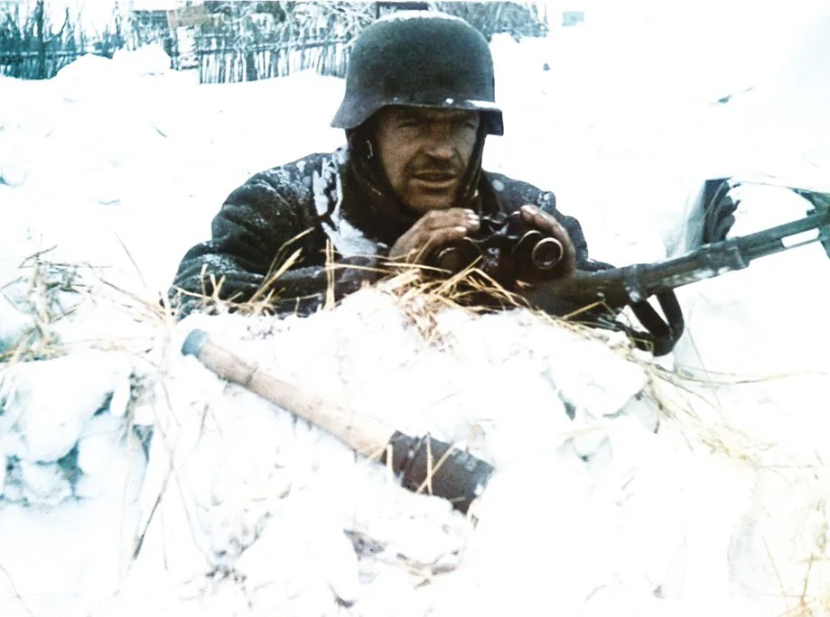 The Russians [LEFT] were equipped and trained for winter warfare; the Germans [RIGHT] were not. The onset of winter signalled the strategic failure of Barbarossa.