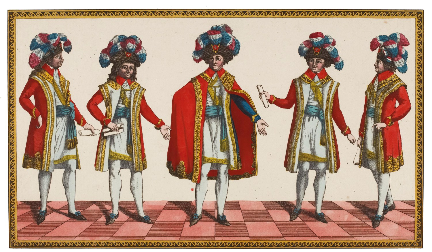 BELOW The French Directory, the executive of five men who ruled France at the time of the 1797 invasion effort.