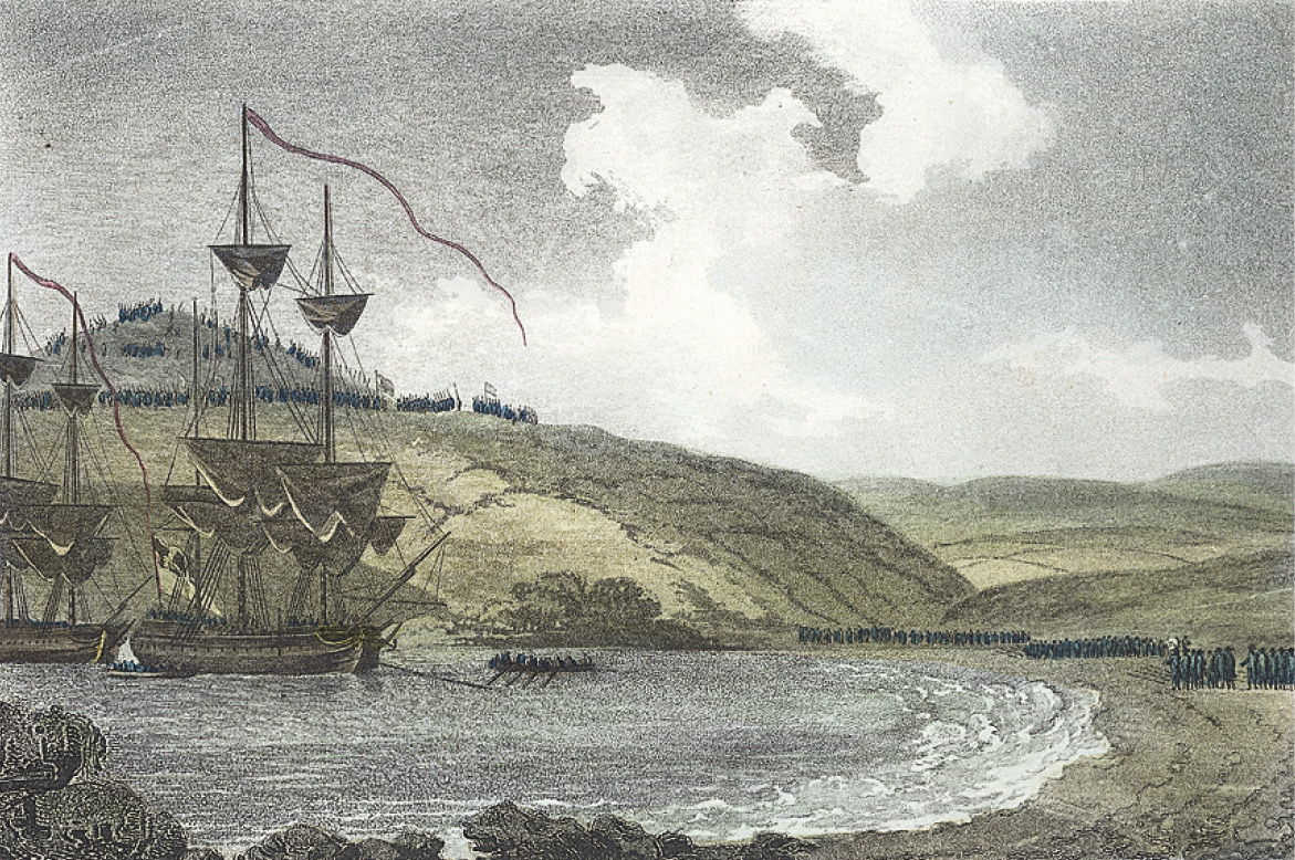 LEFT Goodwick Sands, the place of surrender.