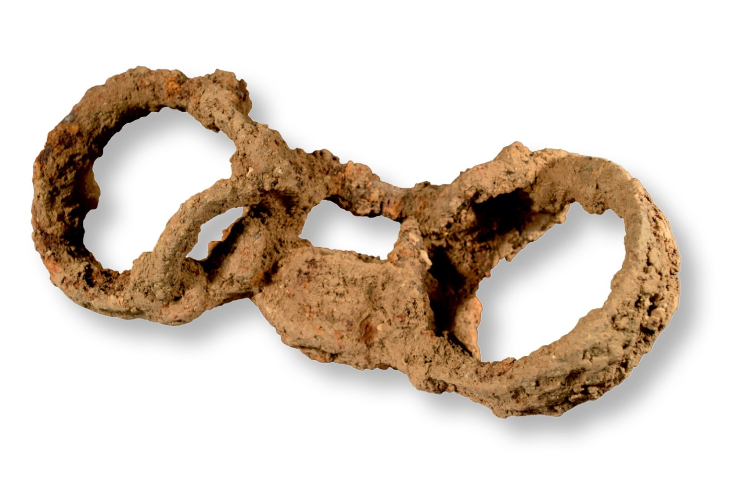 ABOVE These iron shackles were found padlocked around the ankles of a Roman man who had been interred at Great Casterton, Rutland. Might his burial represent rare direct evidence for slavery in Roman Britain?