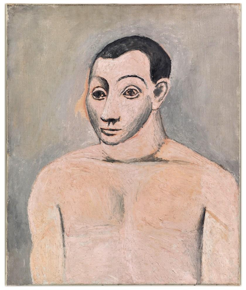 right Pablo Picasso, Self-portrait. Paris, autumn 1906, oil on canvas. Size: 65 x 54cm