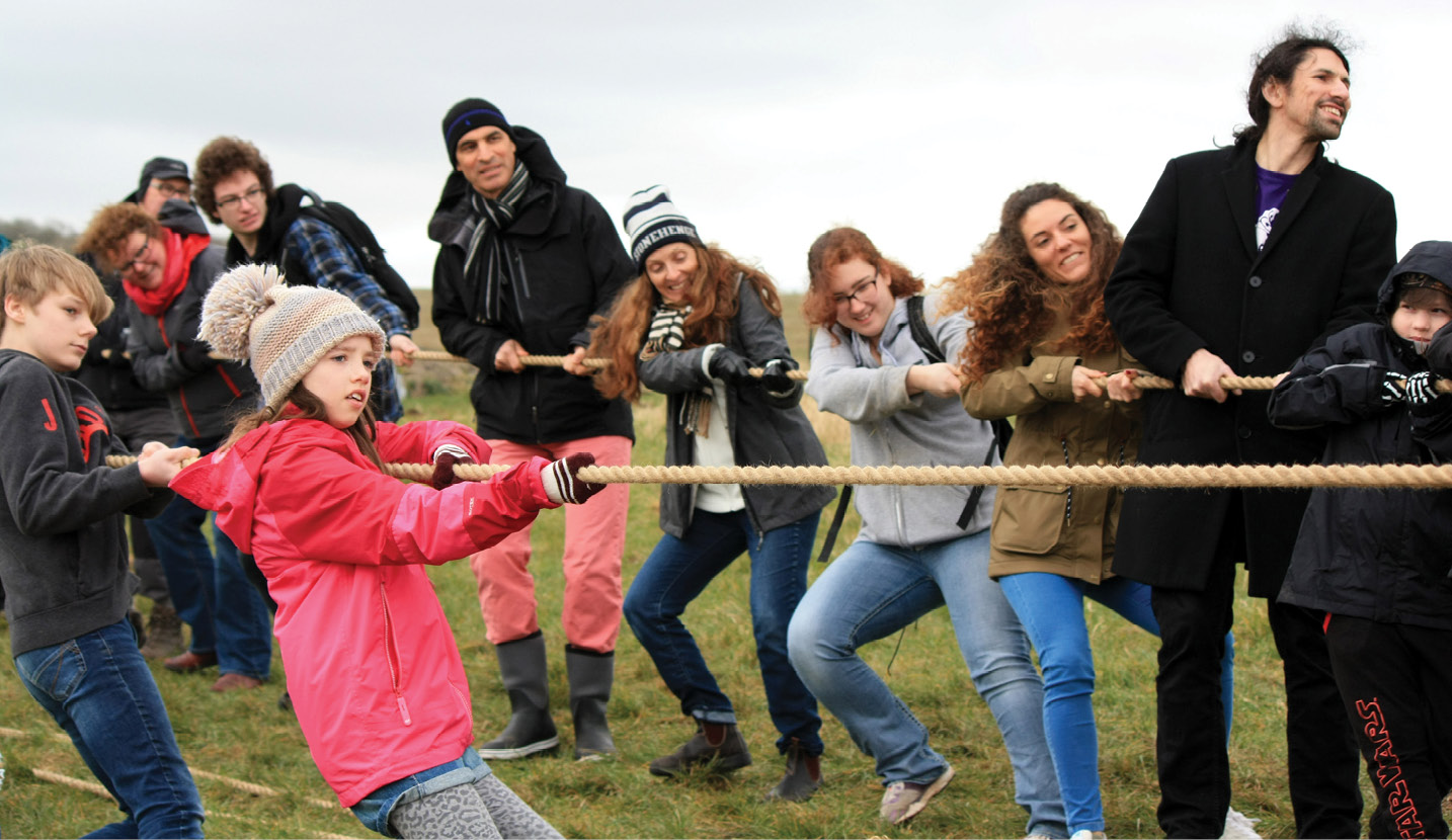 right Pulling together: the community aspect of constructing a monument like Stonehenge lay at the heart of the project.