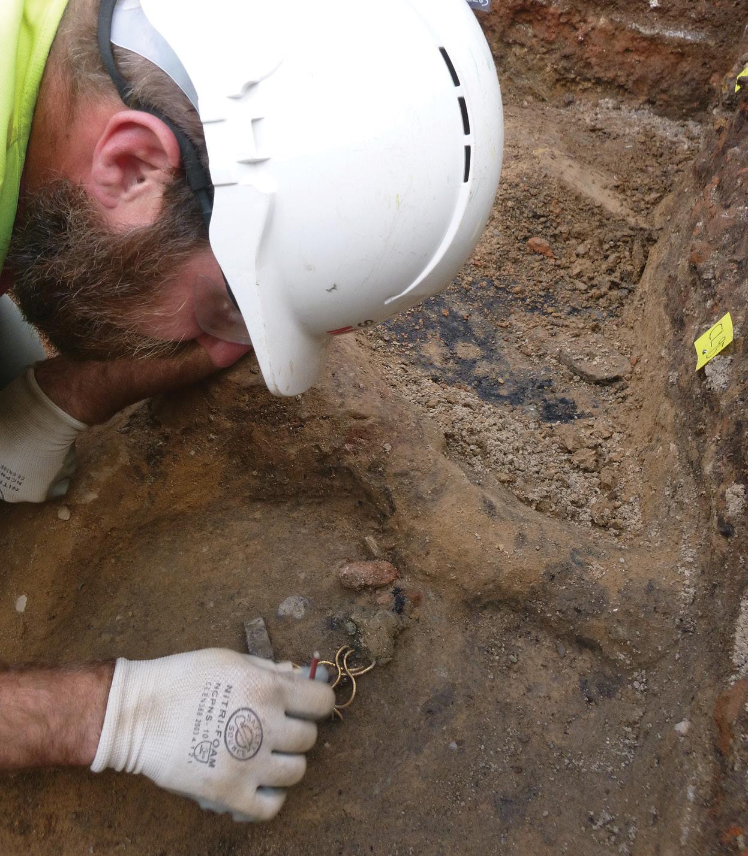 above Adam Wightman, pictured excavating the Fenwick Treasure.