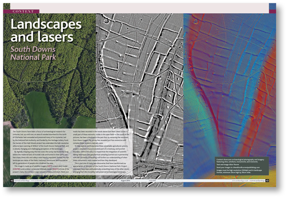 RIGHT CA 317 took us to East Dean and the 'Secrets of the High Woods' project, which carried out high-resolution airborne scanning of the area. The project was thus able to provide new details of the occupation of the area throughout history.