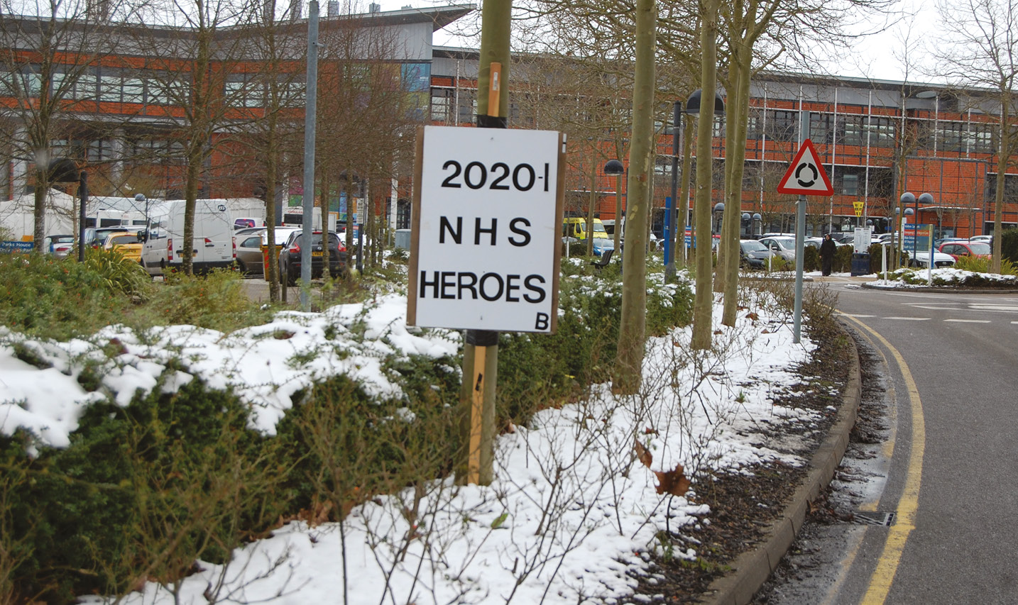 RIGHT During the pandemic, as well as focusing on publishing previously excavated sites, the Unit devoted their energies to supporting NHS staff at the local hospital.