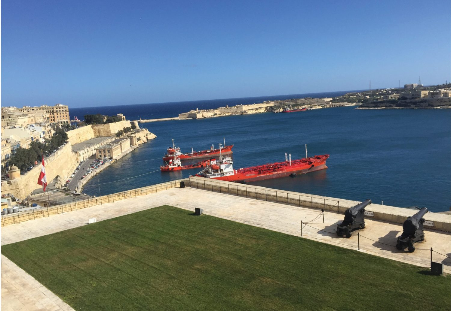 above View across Malta's thriving Grand Harbour. below Malta's vibrant culture: the colourful carnevale gets under way.