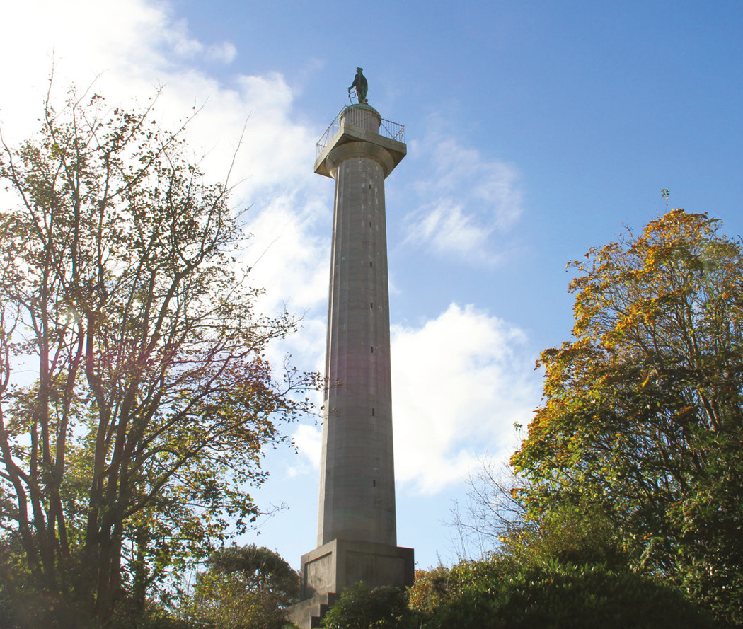 LEFT The Marquess of Anglesey's Column near the Menai Strait in Wales. In the 200 years since its construction, the monument has become a popular local tourist attraction.