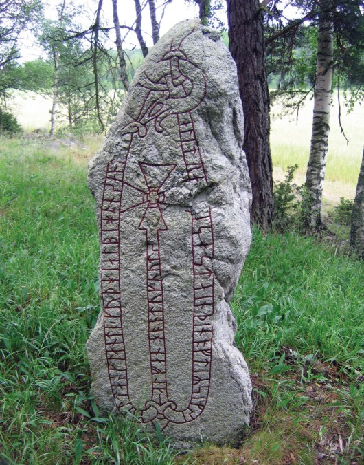 left In 1016, Cnut of Denmark conquered England. He reigned until 1035 and placed the country under Viking rule until 1042. Runestones such as U194 in Uppland, Sweden, record the deeds of members of his retinue but how far can we trace his footprints on this side of the North Sea?
