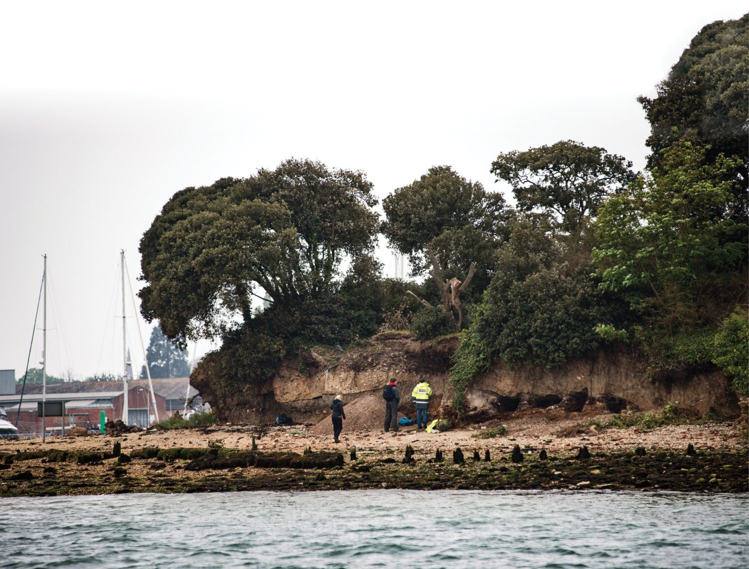 below Known locally as 'Rat Island', this small tidal island in the waters off Portsmouth has long been rumoured to contain the graves of 18th- and 19th-century convicts or prisoners of war.