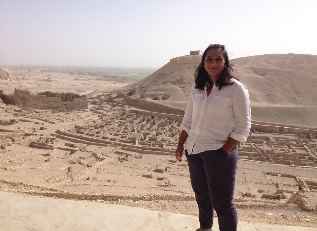 above TV archaeology also took Raksha to Egypt. 'I never imagined I would get to see the items from Tutankhamun's tomb up close and personal,' she said.