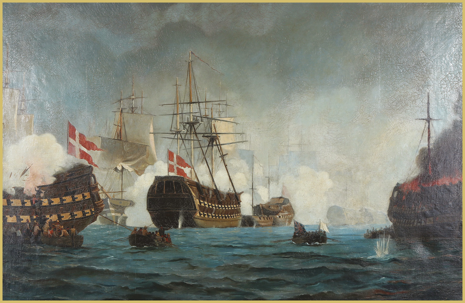 LEFT Nelson's preference for engagement at the closest possible range was again evident at Copenhagen, where the Danish fleet was neutralised and Napoleon's Baltic 'Armed Neutrality' broken up.