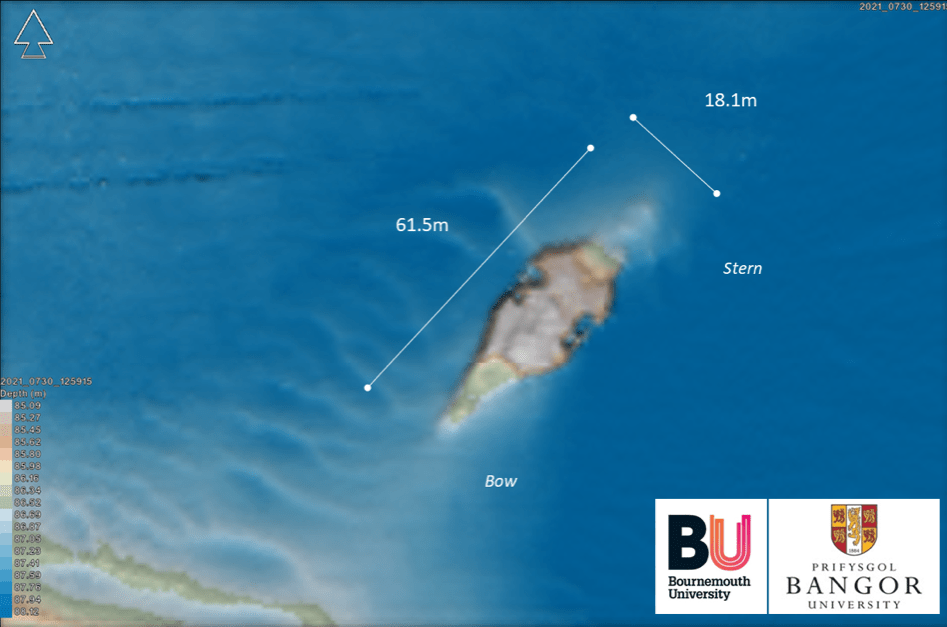 The site plan for the wreck of HMS Mercury (Image: Bournemouth University)