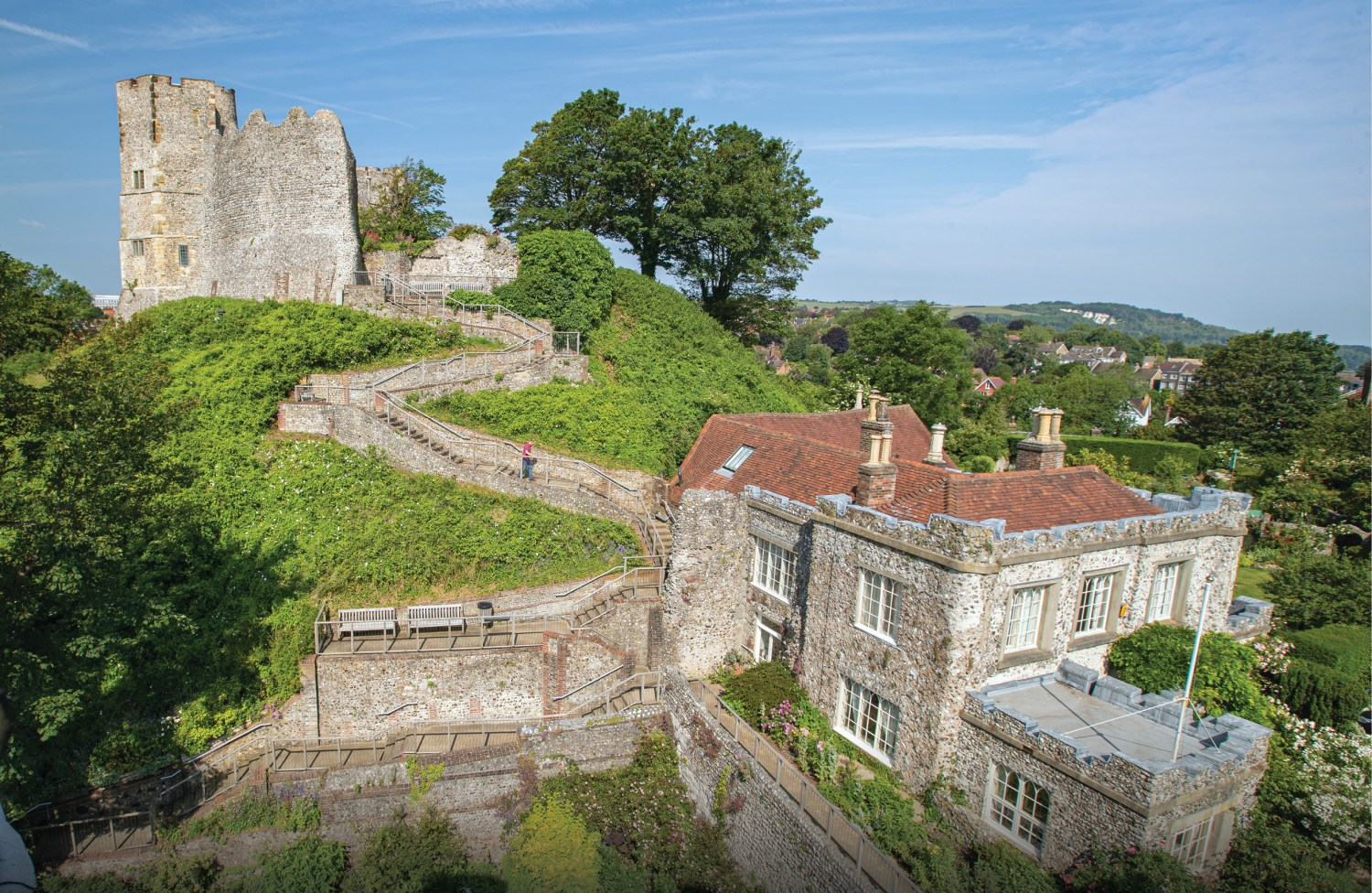 BELOW Overlooking Lewes Castle, which the Sussex Archaeological Society acquired in 1922 after renting the site for over 70 years.